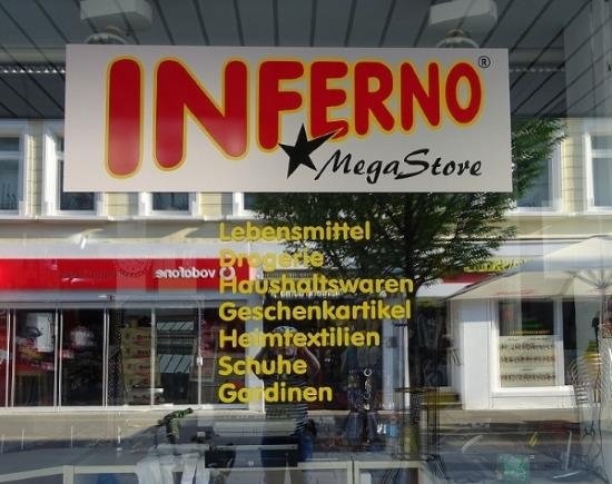 Geschäft mit dem Namen Inferno